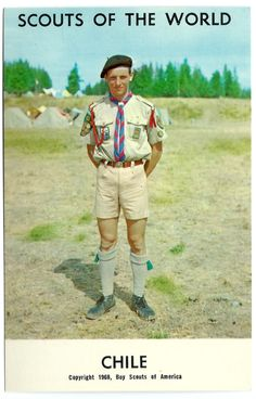 1968 Chile Boy Scouts of the World Postcard South American Scouting Uniform Vintage Color Chrome Foreign Scouting Ephemera (4.99 USD) by OakwoodView