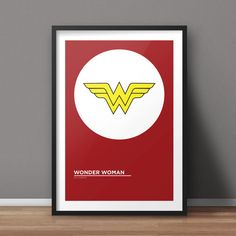 Wonder Woman Poster Comic Poster Minimalist Poster by RvECreative
