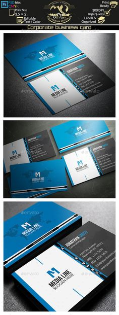 Corporate Business Card Template PSD | Buy and Download: http://graphicriver.net/item/corporate-business-card-51/9021457?WT.ac=category_thumb&WT.z_author=far_star60&ref=ksioks