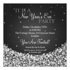 new years eve party night sparkle black announcement engagement party wedding shower reception