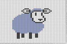Un mouton - Tricksy Knitter Charts: lamb by Jillian Aldread