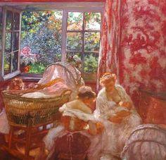 Gaston La Touche, Les frères jumeaux (et un rideau en toile de Jouy)
