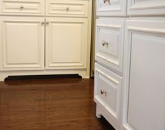 Faux feet for cabinetry.