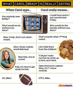 What Carol Brady Is Really Saying (INFOGRAPHIC)
