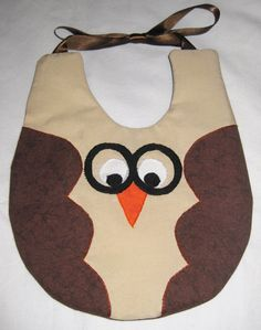 Baby owl bib with glasses