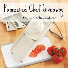 Giveaway for Pampered Chef Ultimate Mandolin