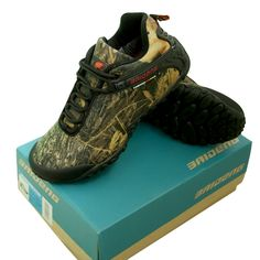 Mens Outdoor Spring Autumn Shoes Bionic Camouflage Anti-slip Hiking Shoes Fishing Hunting Boots #Affiliate