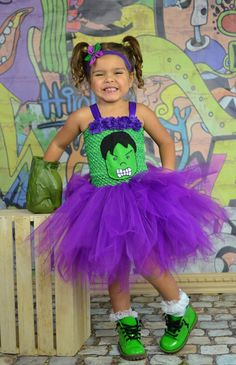 Girl Hulk Costume....Incredible Hulk Tutu Dress.....Super Hero Party...Marvel Avengers