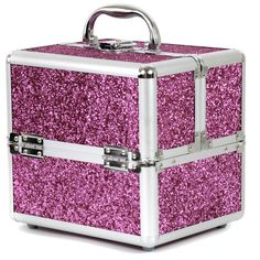 Bucasi's sparkly pink makeup train case is a great gift for the makeup loving ladies in your life!