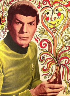 Leonard Nimoy as Mr Spock---Cool, but why is Spock not in Science blue? He much prefers science to command.