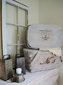 Picnic Baskets...a neat make-over for old baskets that aren't in such good shape anymore