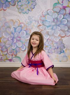 Pretty pink Princess Mulan dresses for toddlers, little girls and tweens!   The perfect dress/clothes for Easter, birthdays, Disney trips, ballet recitals, #spring and more!... #toddlerstyle #girlsdress