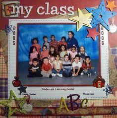 Single page ~ one photo; school; class photo