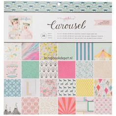 Crate Paper Maggie Holmes Carousel - Paper Pad 12x12inch