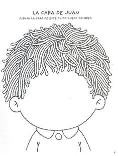 Escolar escolar diy crafts for girls - Diy Preschool Worksheets, Preschool Activities, Diy Crafts For Girls, English Activities, Teaching Spanish, Coloring Pages For Kids, In Kindergarten, Pre School, Face And Body