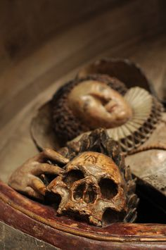 Dorothy Dodridge and Her Skull: Exeter Cathedral