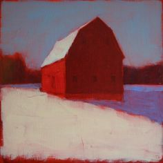 Tracy Helgeson - Wintery Red Barn
