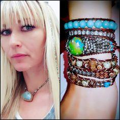 "LOVE the whole combo! Vaida Morali & ""One-of-a-Find"" Eye Gotcha Covered Jewelry! ~Namasté   www.eyegotchacovered.info  #Buddha #Peace #Love #Namasté #BohoChic #FashionTrending #EGCdesign #Pyrite #Amazonite #Agate #ArtisanJewelry #SouthwestInspired #EarthTones #EveryPieceMadeWithLove #SupportYourLocalArtists"