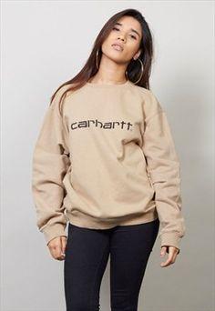 Classic 90's vintage beige Carhartt sweater