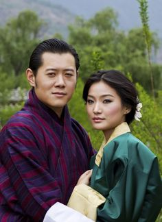 Bhutan's King Jigme Khesar Namgyel Wangchuck (L) and his new fiancee Jetsun Pema pose in Bhutan Read more: http://newsfeed.time.com/2011/05/23/another-monarch-off-the-market-bhutan%e2%80%99s-king-to-wed-a-commoner/#ixzz1Szsd0279