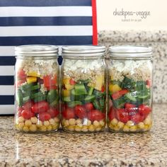 1 oz goat cheese ½ cup cooked, cold quinoa 1 bell pepper, chopped 1 persian cucumber, chopped 4 oz grape or cherry tomatoes 5 oz chickpeas, rinsed & dried Dressing: 3 tsp olive oil 1 tsp white vinegar splash of lemon juice sprinkle of black pepper