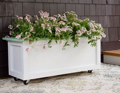Our Large DIY Planter on wheels {tutorial}   Four Generations One RoofFour Generations One Roof
