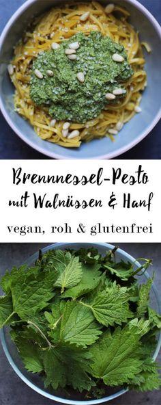 Brennnessel-Pesto mit Hanf und Walnüssen ~ vegan, roh & glutenfrei