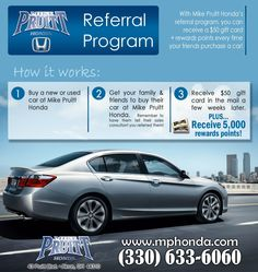 Learn all about the Mike Pruitt Honda Referral program!