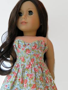 American Girl Doll Clothes Cotton Floral Print by 18Boutique