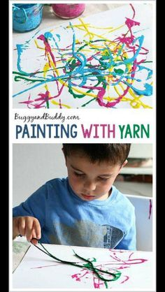 Painting with yarn