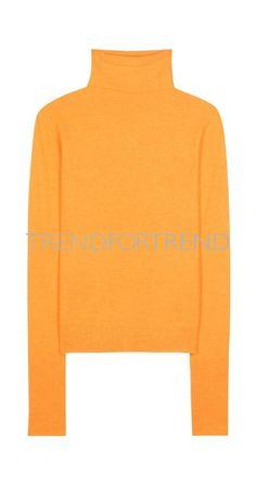 Sies Marjan Alpaca And Cashmere Turtleneck Sweater For Spring-Summer 2017 Orange Sweaters, Yellow Sweater, Orange Turtleneck Sweater, Wool Sweaters, Cashmere Turtleneck, Cashmere Sweaters, Neutral Skirts, Orange Fashion, Yellow Top