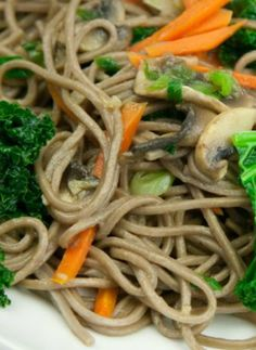 Buckwheat Noodle Stir Fry, a healthy recipe for lunch or dinner