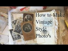 Junk Journal Ephemera - How to Make Vintage Photo's Hi - just some quick ideas for making Junk Journal Ephemera using some of the vintage pieces that we buy. Paper Crafts Origami, Diy Paper, Paper Crafting, Fabric Journals, Art Journals, Book Journal, Bullet Journal, Glue Book, Personalized Gift Tags