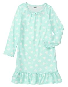 Heart Print Pajama Gown at Crazy 8