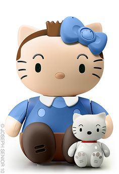 The adventures of tintin hello kitty.