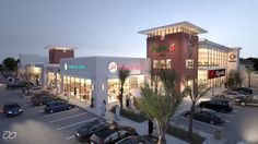 Commercial Shopping Center, Strip mall done for client to sell lease space prior to construction.
