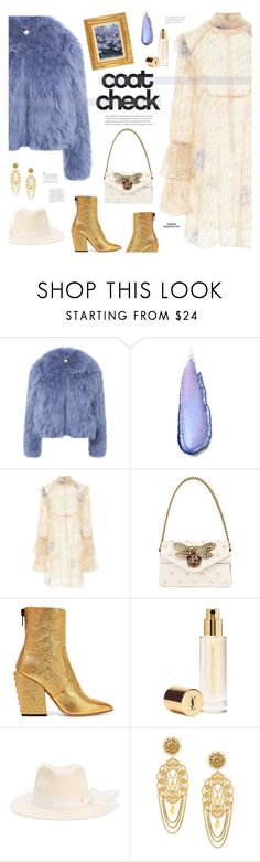 """Statement Coats"" by mylkbar ❤ liked on Polyvore featuring Charlotte Simone, Stila, Anna Sui, Gucci, Petar Petrov, Yves Saint Laurent, Gigi Burris Millinery, Dolce&Gabbana and statementcoats"