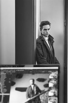 Robert Pattinson behind the scenes of his Dior Homme shoot with Karl Lagerfeld