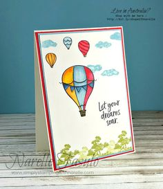 Stampin' Up! Stamping, Scrapbooking, Home Decor, Online classes and more. Just sharing my love of paper crafting. Whimsy Stamps, Ink Stamps, Air Balloon, Balloons, Simply Stamps, Stampin Up Catalog, Above The Clouds, Ink Pads, Cute Cards
