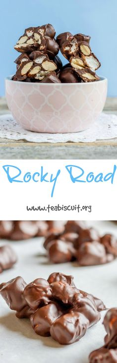 Rocky Road - no cooking required, just melt the chocolate and mix! gluten free, dairy free, egg free | www.teabiscuit.org