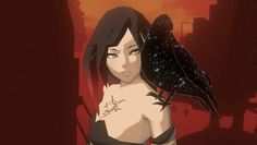 Raven and her pet from Gravity Rush Gravity Rush Raven, New Perspective, Sword Art, Drawing Reference, Game Art, Good Things, Drawings, Anime, Fictional Characters
