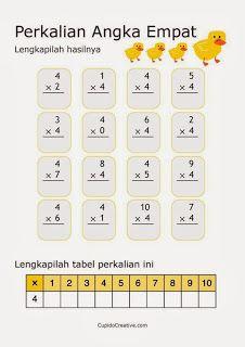 belajar anak perkalian angka 4 #belajaranak #perkalian #SD