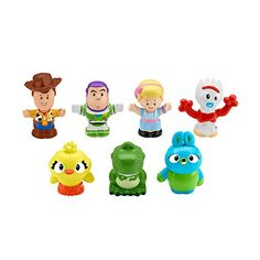 The Fisher Price Pixar Toy Story 4 Little People Friends Set lets your little one engage in his or her own imaginary storyline with their favorite characters from Toy Story Set of figures includes Woody, Buzz, Bo Peep, and many more. Disney Pixar, Disney Toys, Baby Disney, Disney Stuff, Disney Frozen, Toddler Toys, Kids Toys, Toddler Daycare, Fisher Price Toys