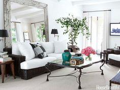 White Los Angeles House - White Decorating Ideas - House Beautiful