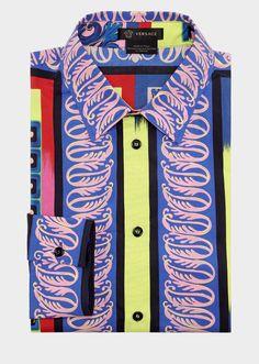 Medusa Pop Foulard Silk Shirt - Versace Shirts Versace Shirts, Versace Men,  Men s Collection c79bfe62372