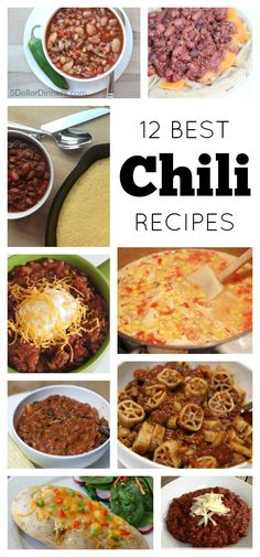 There is nothing that celebrates the taste of fall more to me than a good bowl of chili!  Check out my 12 Best Chili Recipes | 5DollarDinners.com