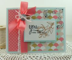 I made this card using the new stamp set from Flourishes called Inside & Out YOU.