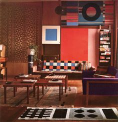 1959 pic of architect Ettore Sottsass' own Milan apartment.