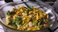 Zapekaný losos s brokolicou a cestovinami - Recept