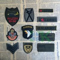 50pcs/lot Army Embroidered Iron-on patches for clothes jacket badge Motif Applique Custom Military patch DIY Accessory